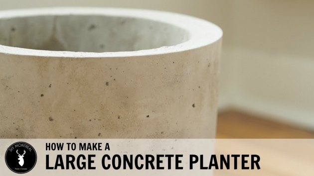 Innovative Large Round Concrete Planters Picture