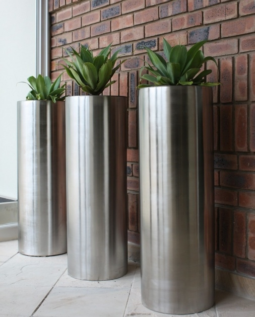Innovative Stainless Steel Planters Photo