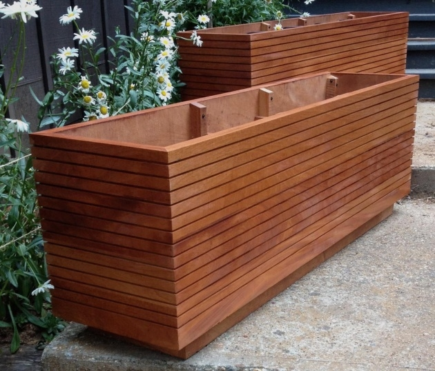 Innovative Wooden Rectangular Planter Picture