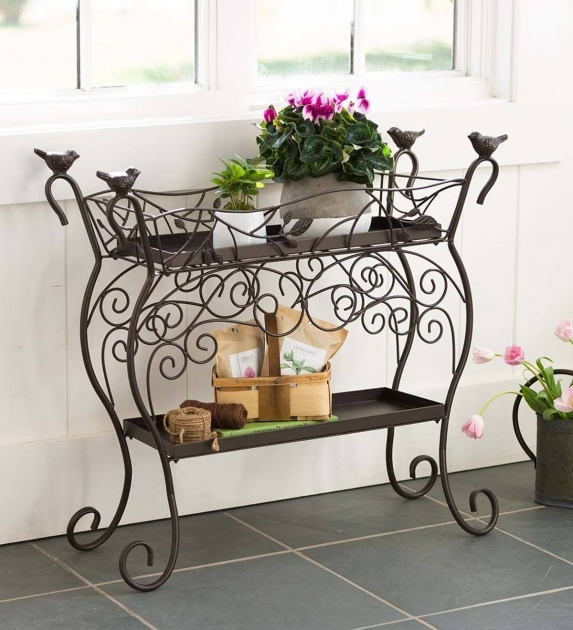 Insanely Wrought Iron Plant Stands Outdoor Image