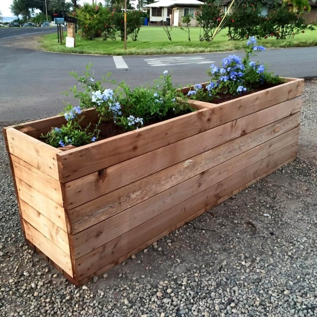 Inspiration How To Make A Planter Box Out Of Pallets Image