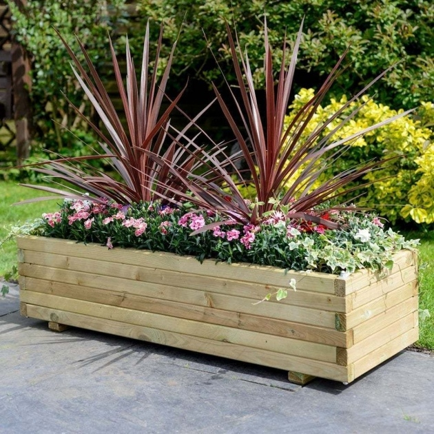 Inspiration Wooden Rectangular Planter Picture