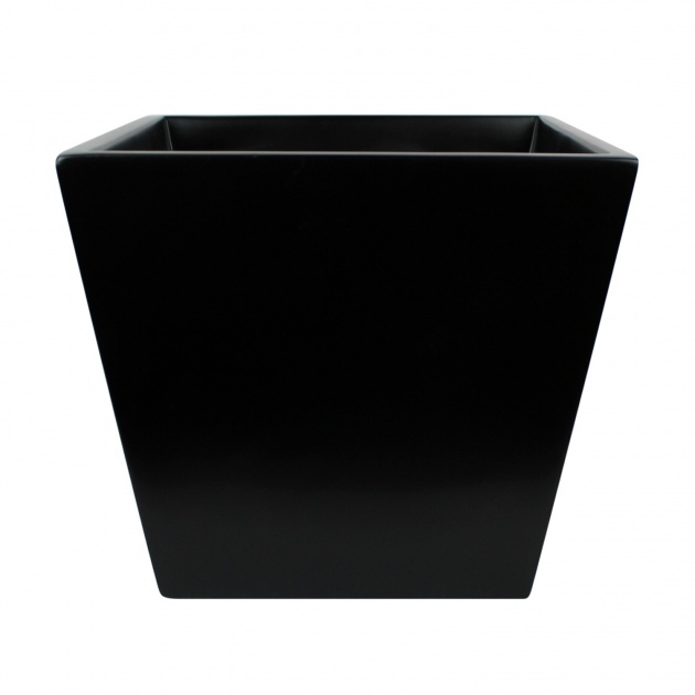 Inspirational Black Square Planter Picture