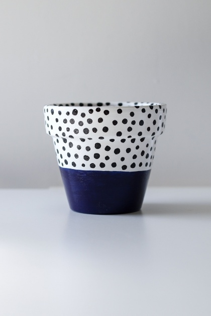 Inspirational Blue And White Plant Pot Photo