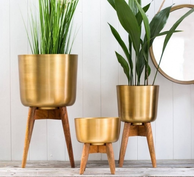 Inspirational Brass Plant Pot Image