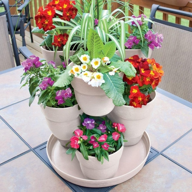 Inspirational Flower Tower Planter Photo