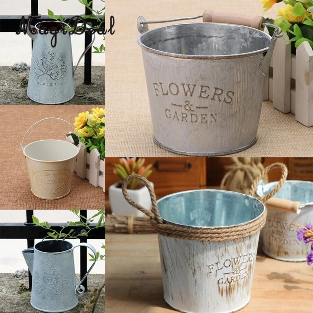 Inspirational Metal Bucket Planter Picture