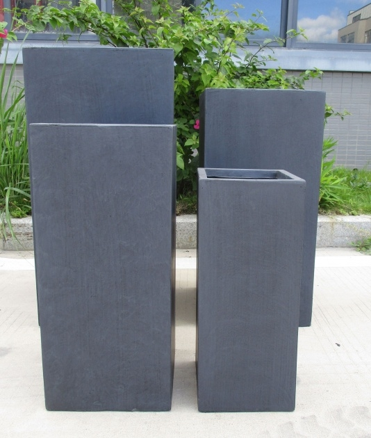 Inspirational Tall Concrete Planters Picture