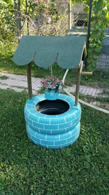 Inspiring How To Make Tire Planters Image
