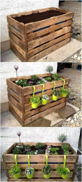 Inspiring Pallet Planter Ideas Picture