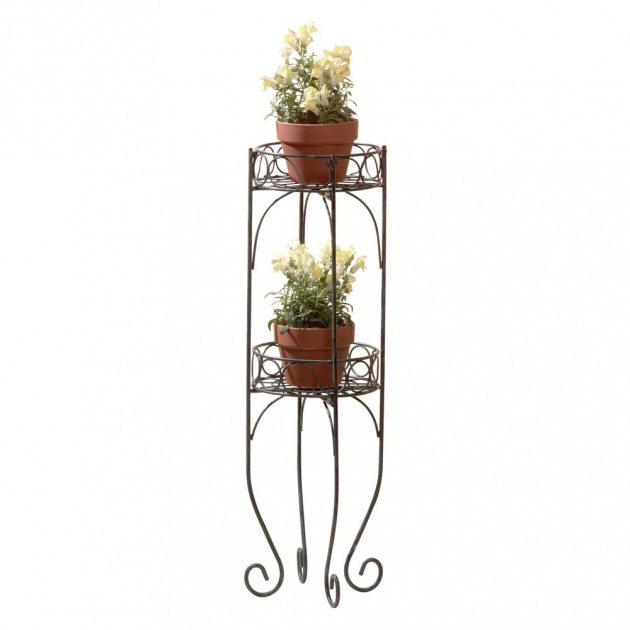 Inspiring Wrought Iron Plant Stands Outdoor Image