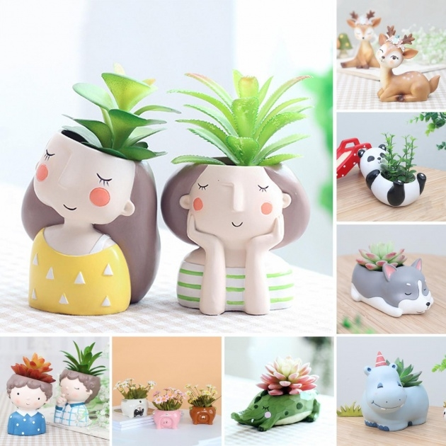 Interesting Animal Plant Pots Picture
