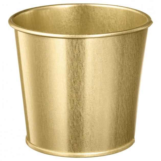 Interesting Brass Plant Pot Photo