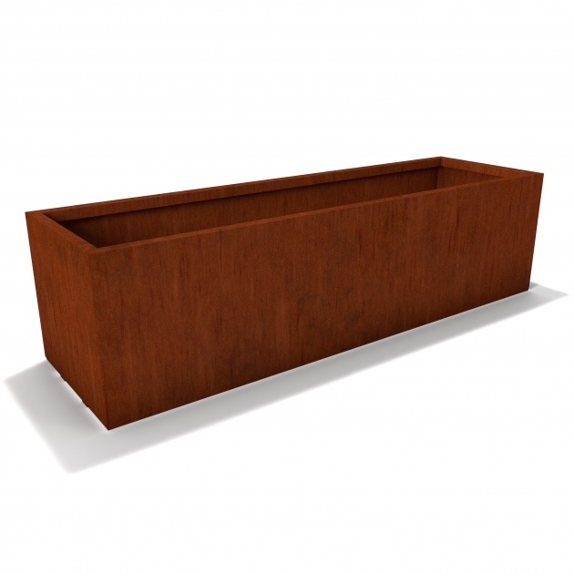 Interesting Corten Steel Planters Picture