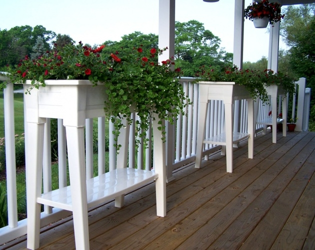 Interesting Planter Box Stands Outdoor Picture