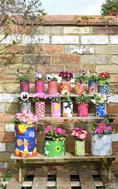 Interesting Tin Can Planters Picture