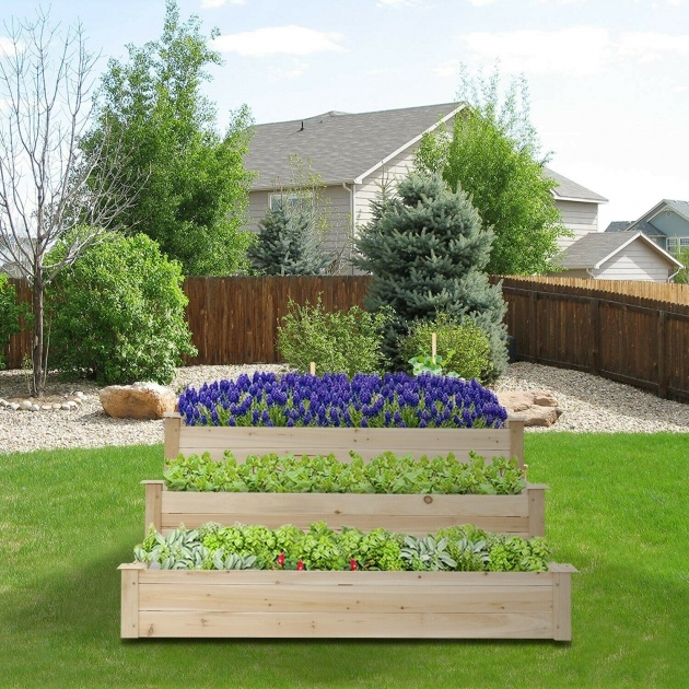 Interesting Wooden Garden Planters Image