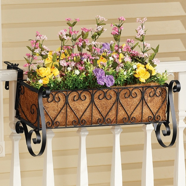 Marvelous Balcony Rail Planter Box Photo