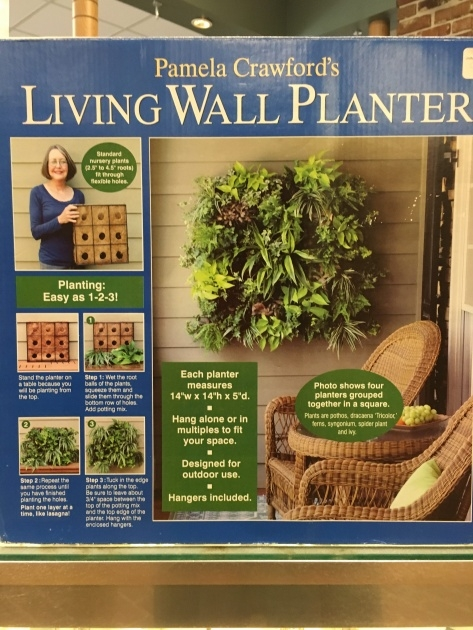 Marvelous Outdoor Living Wall Planters Image