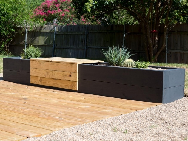 Marvelous Planter Box Bench Photo