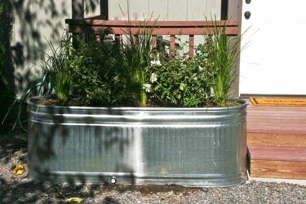 Most Creative Galvanized Tub Planter Image