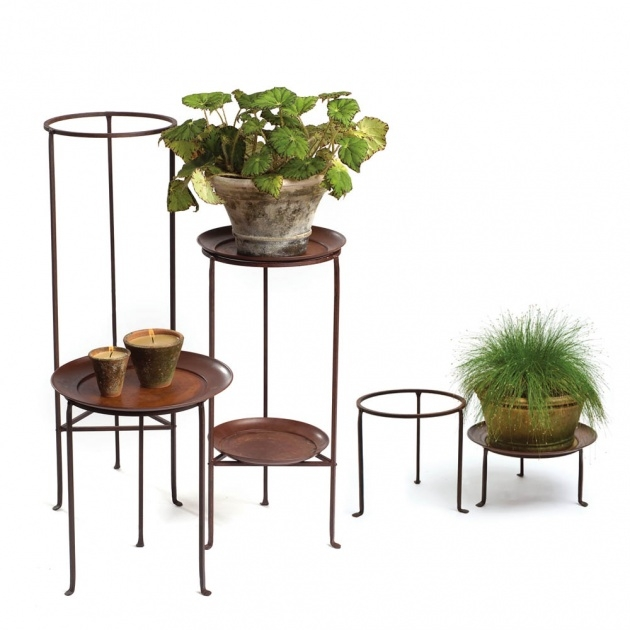 Most Creative Iron Plant Stand Picture