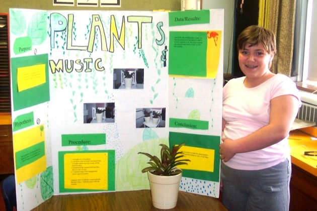 Most Creative Music And Plants Science Fair Project Results Image