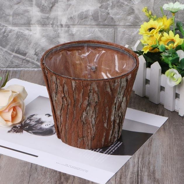 Most Creative Tree Bark Planters Image