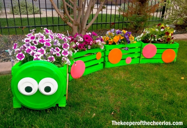 Most Creative Wooden Crate Planter Picture