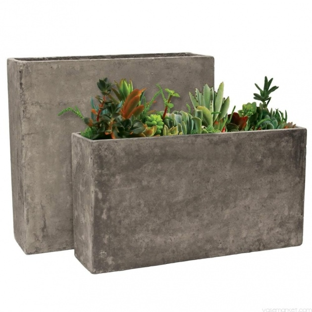 Most Popular Rectangular Concrete Planters Image