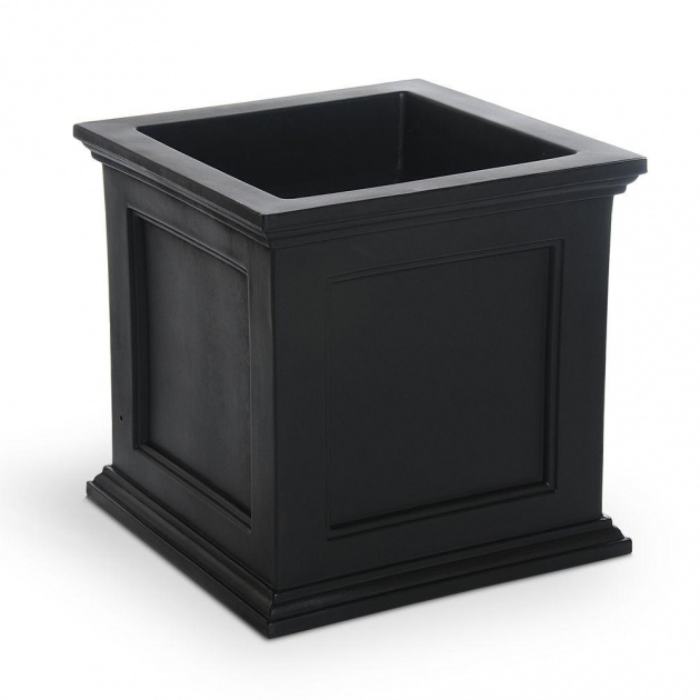 Outstanding Black Square Planter Picture