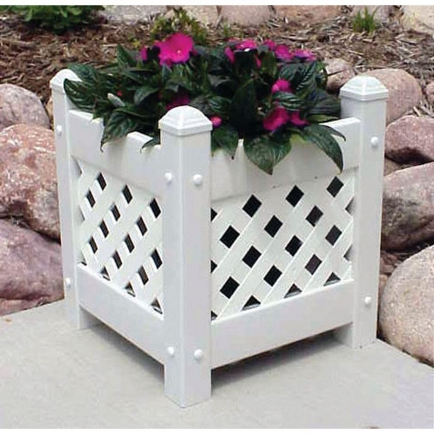 Outstanding Small Lattice For Potted Plants Image