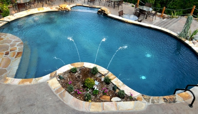 Outstanding Swimming Pool Planters Image