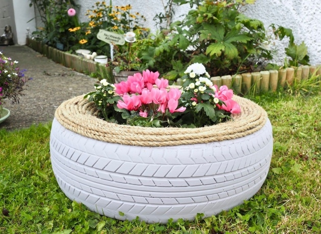 Outstanding Tire Planters Photo