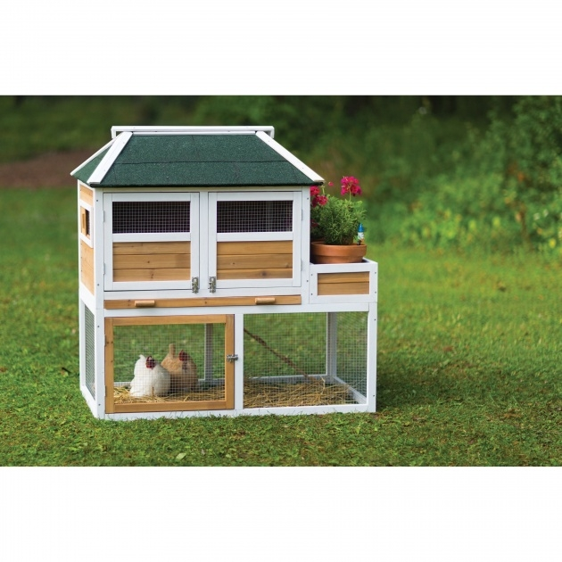 Perfect Chicken Coop With Planter Photo