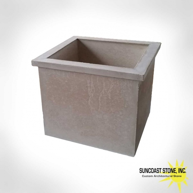 Perfect Rectangular Concrete Planters Picture