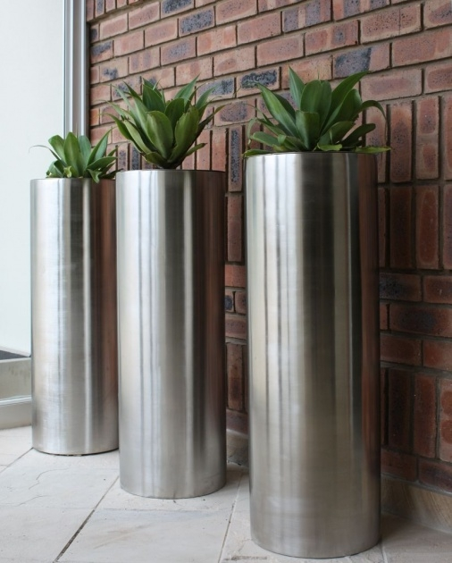 Perfect Stainless Steel Plant Pots Photo