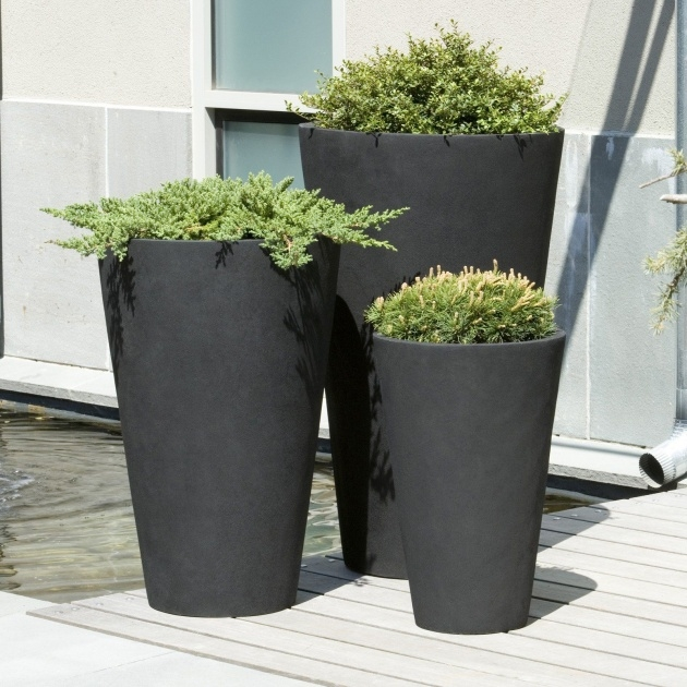 Popular Tall Black Outdoor Planters Picture
