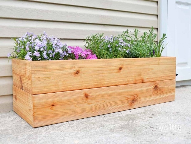 Popular Wooden Planter Box Diy Image