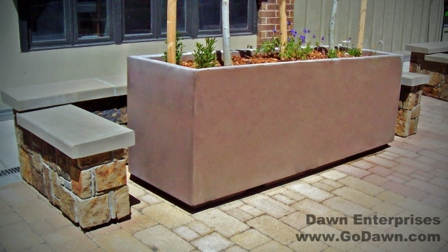 Remarkable Rectangular Concrete Planters Photo