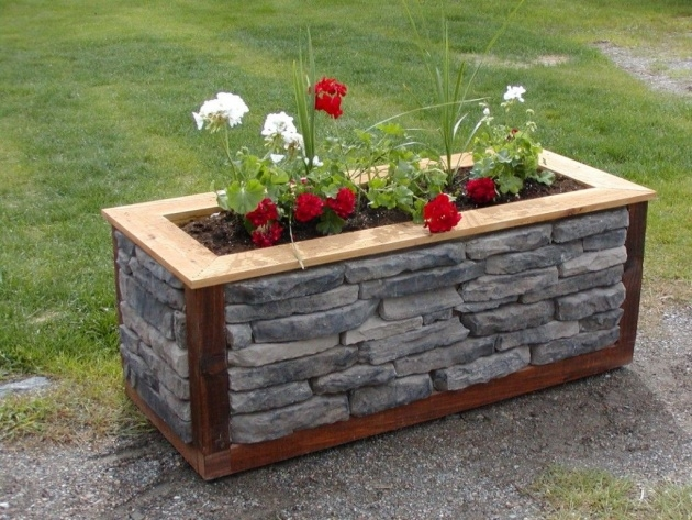 Remarkable Stone Planter Box Image