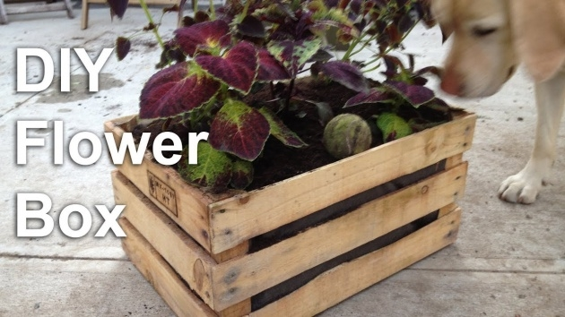Remarkable Wooden Crate Planter Image