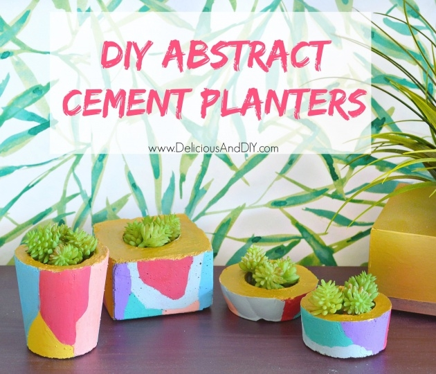 Sensational Diy Cement Planters Photo