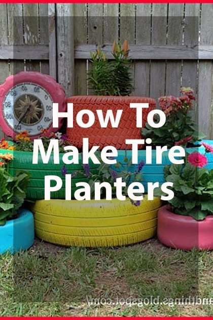 Sensational How To Make Tire Planters Picture