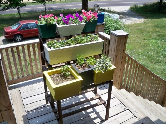 Sensational Planter Box Stands Outdoor Photo