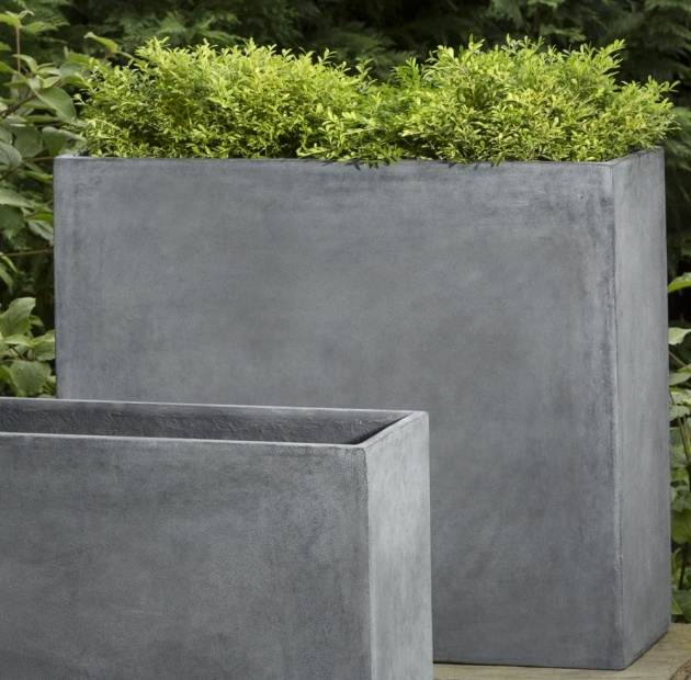 Simple Concrete Outdoor Planters Image