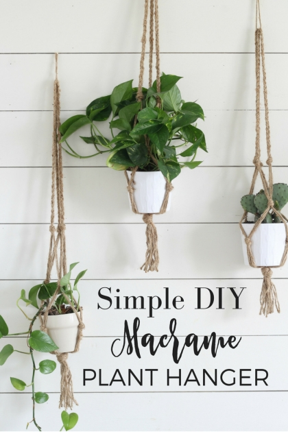 Simple Diy Rope Plant Hanger Photo
