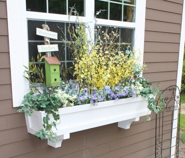 Simple Outdoor Window Box Planters Image