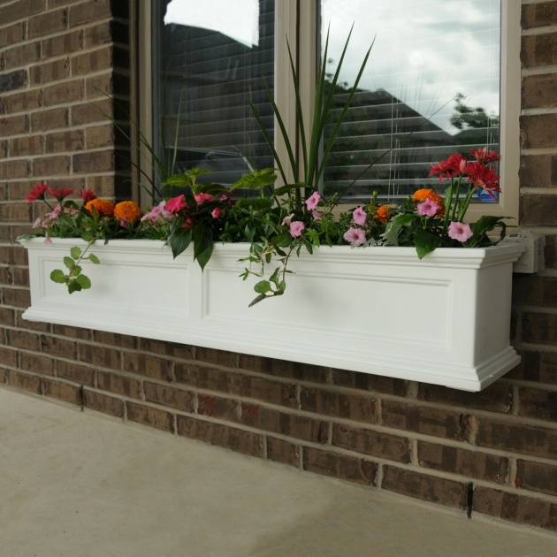 Simple Outdoor Window Box Planters Picture