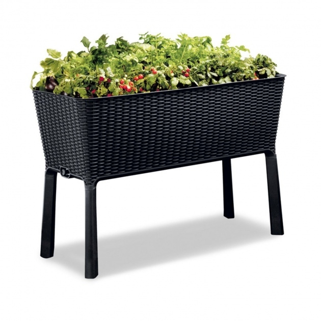 Simple Resin Wicker Planter Boxes Image
